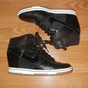 Nike Sky Hi Dunk wedge sneakers sz 7 black